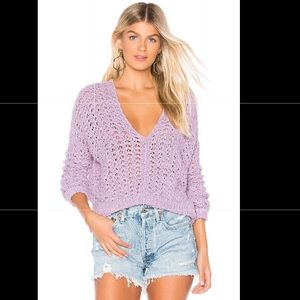Free People Best Of You Loose Knit V-Neck Sweater